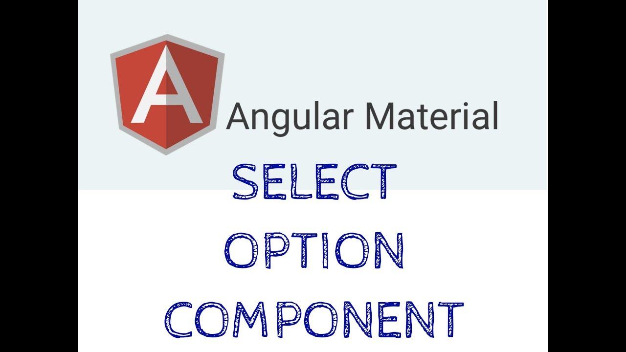 Angular Material Select Option