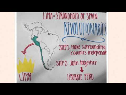 The independence movement of Peru