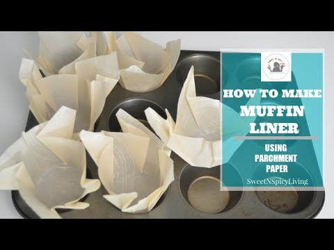 DIY Muffin Liner Using Parchment Paper