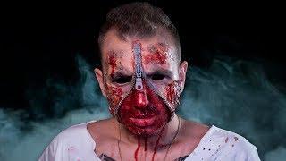 ДЕЛАЮ ГРИМ НА ХЭЛЛОУИН 🎃 ZIPPER FACE makeup tutorial 🔥
