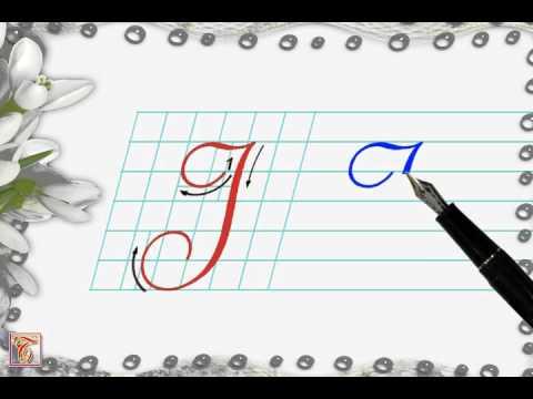 Luyện viết chữ đẹp - Chữ hoa I viết nghiêng - How to write capital letter I
