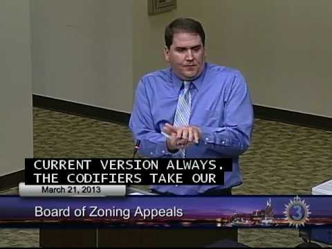 03/21/13 Board of Zoning Appeals Meeting