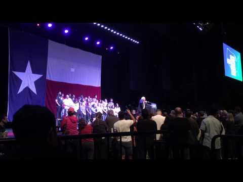 "Bernie Sanders ""Come Together, Fight Back"" tour - Dallas TX"