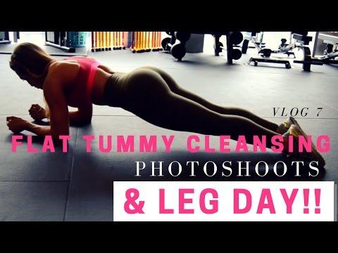 Full LEG DAY, Flat Tummy Cleansing & Photoshoots - VLOG 7
