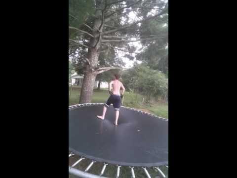 Crazy trampoline challenge