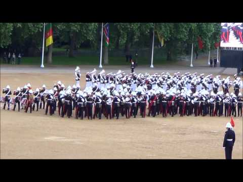 Massed Bands of H.M. Royal Marines Beating Retreat 2014 part 6