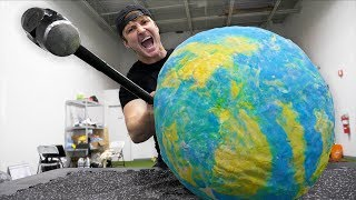 I MADE THE WORLD'S LARGEST BOUNCY BALL!!