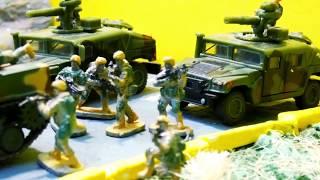 МУЛЬТИКИ Освобождение военной баззы СОЛДАТИКИ против ТЕРРОРИСТОВ  смотреть солдатики ЧАСТЬ 2