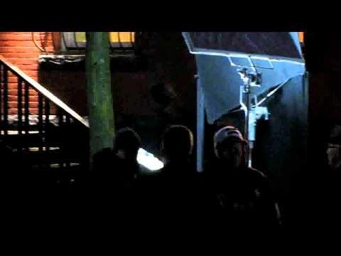 Supernatural S06E22  with Jared Padalecki and Erica Cerra being shot