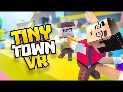 HUGE FOOD FIGHT ON HOTDOG ISLAND - Tiny Town VR Gameplay Part 52 - VR HTC Vive Gameplay