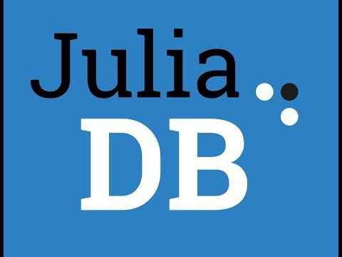 Intro to JuliaDB, a package for working with large persistent data sets