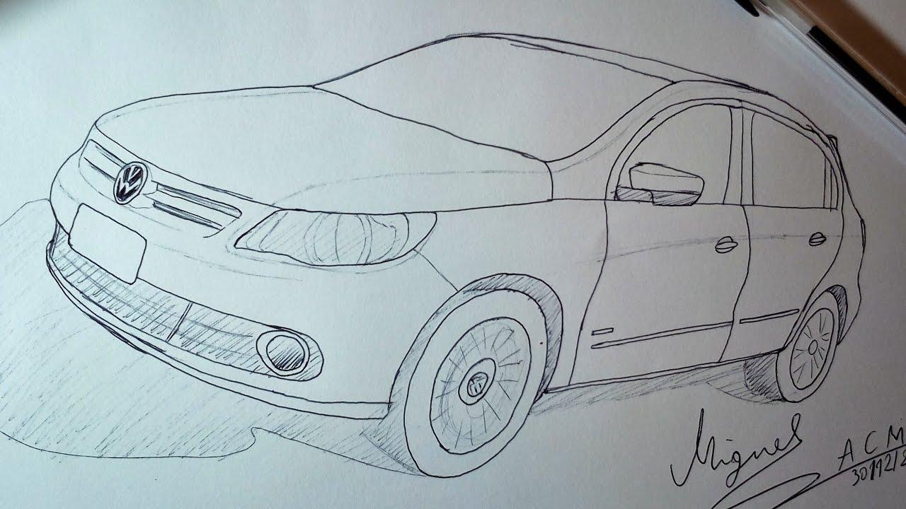 desenhando volkswagen gol  youtube