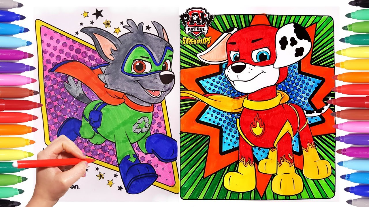 Paw Patrol Superpups Coloring Pages Paw Pups Super Coloring