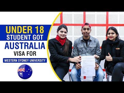 Under 18 Student Got Australia Visa For Western Sydney University