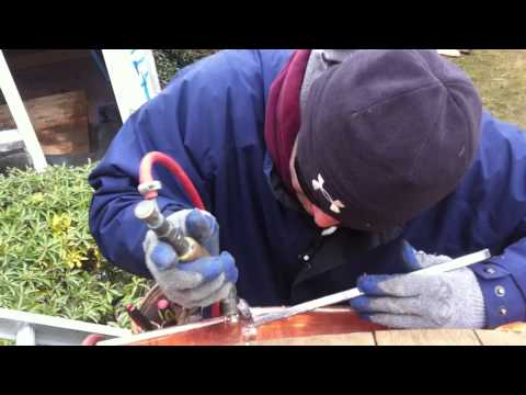 how to put a hoe ina copper sheet