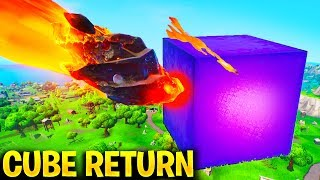 'NOUVEAU' CUBE RETURN TO FORTNITE SEASON 10 - Mega Mall Event, Secret Map Changes - Season X Storyline