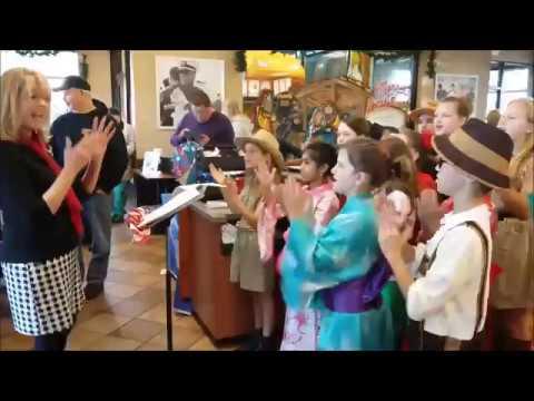 GWA Chorus @ Chick-fil-A Monroe for Fish Christmas Wish Broadcast ...