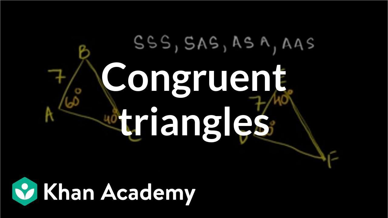 medium resolution of Determining congruent triangles (video)   Khan Academy