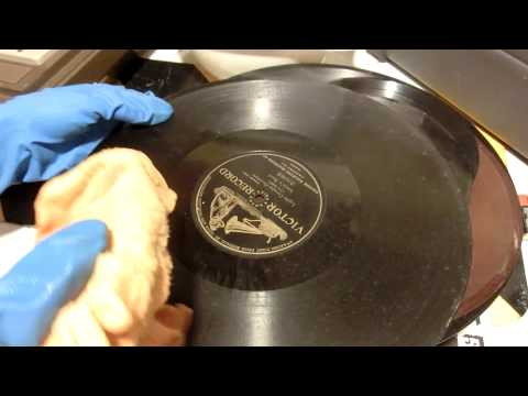 Cleaning Antique Records, Temporarily Fixing with Tape.