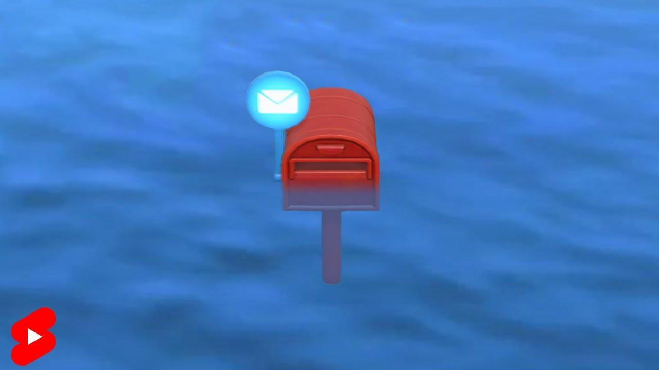 海にポスト置いてたら手紙来なくなる説【あつ森】 #Shorts