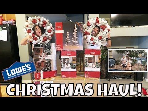 LOWE'S CHRISTMAS HAUL | OUTDOOR DECOR | PHILLIPS FamBam Vlogs