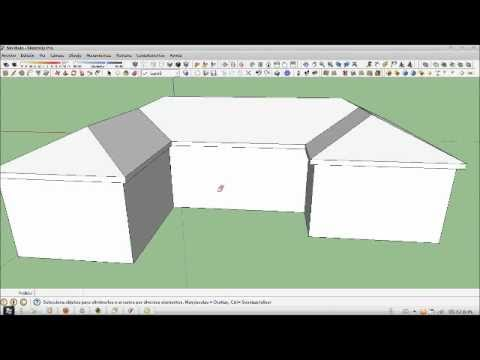 Sketchup tutorial como hacer una cubierta youtube for Como hacer tejados de madera