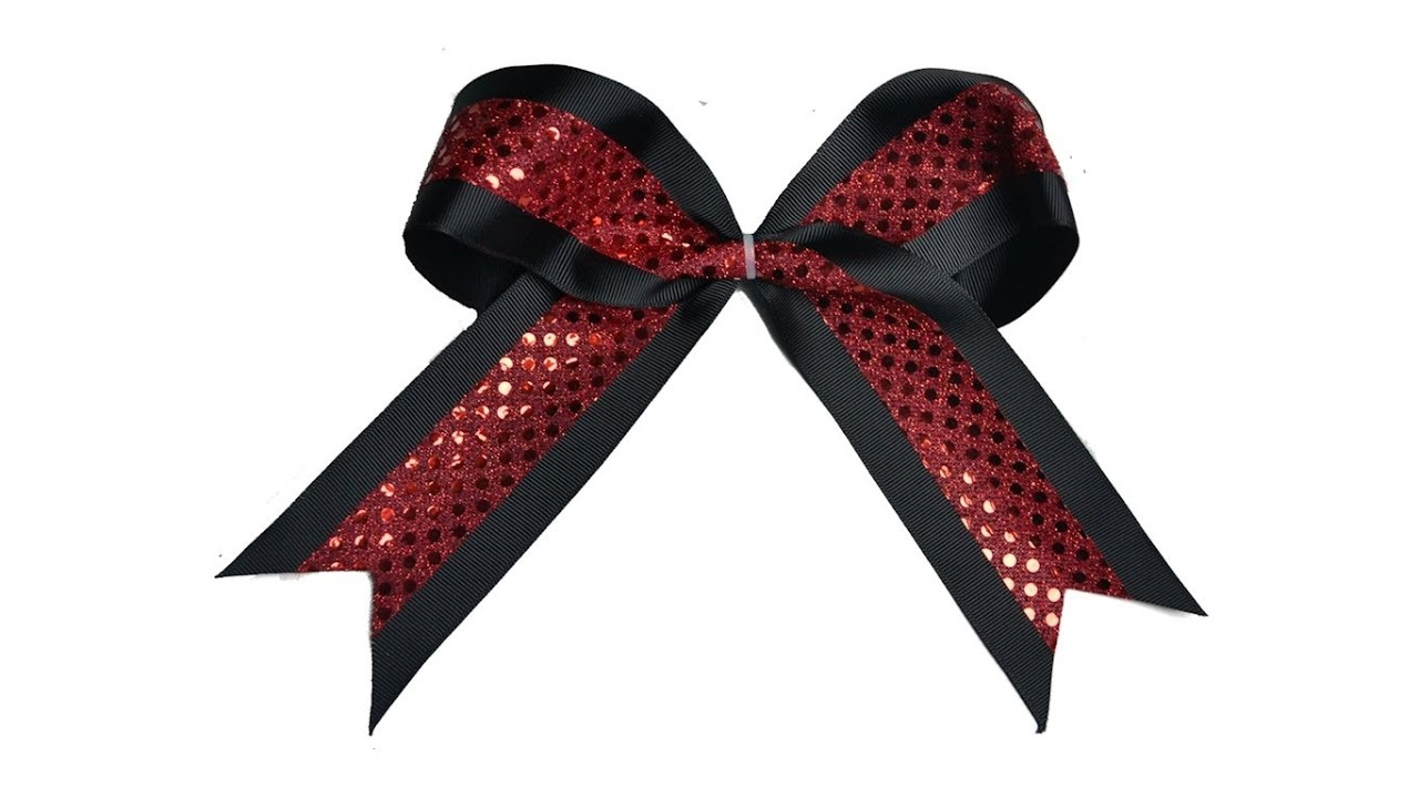 How To Make A Cheerleading Bow Youtube