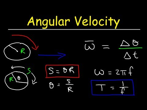 Angular Velocity Physics Problems, Linear Speed, Frequency & Period