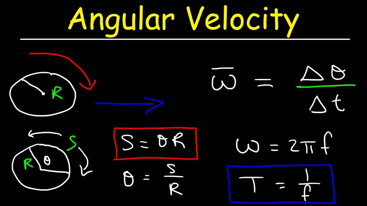Angular Velocity Physics Problems Linear Speed Frequency Period