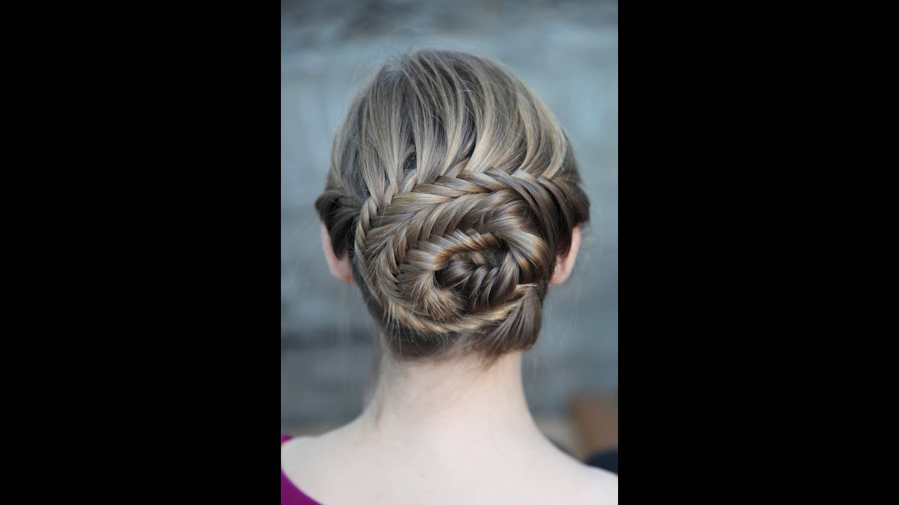 French Fishtail Updo - YouTube