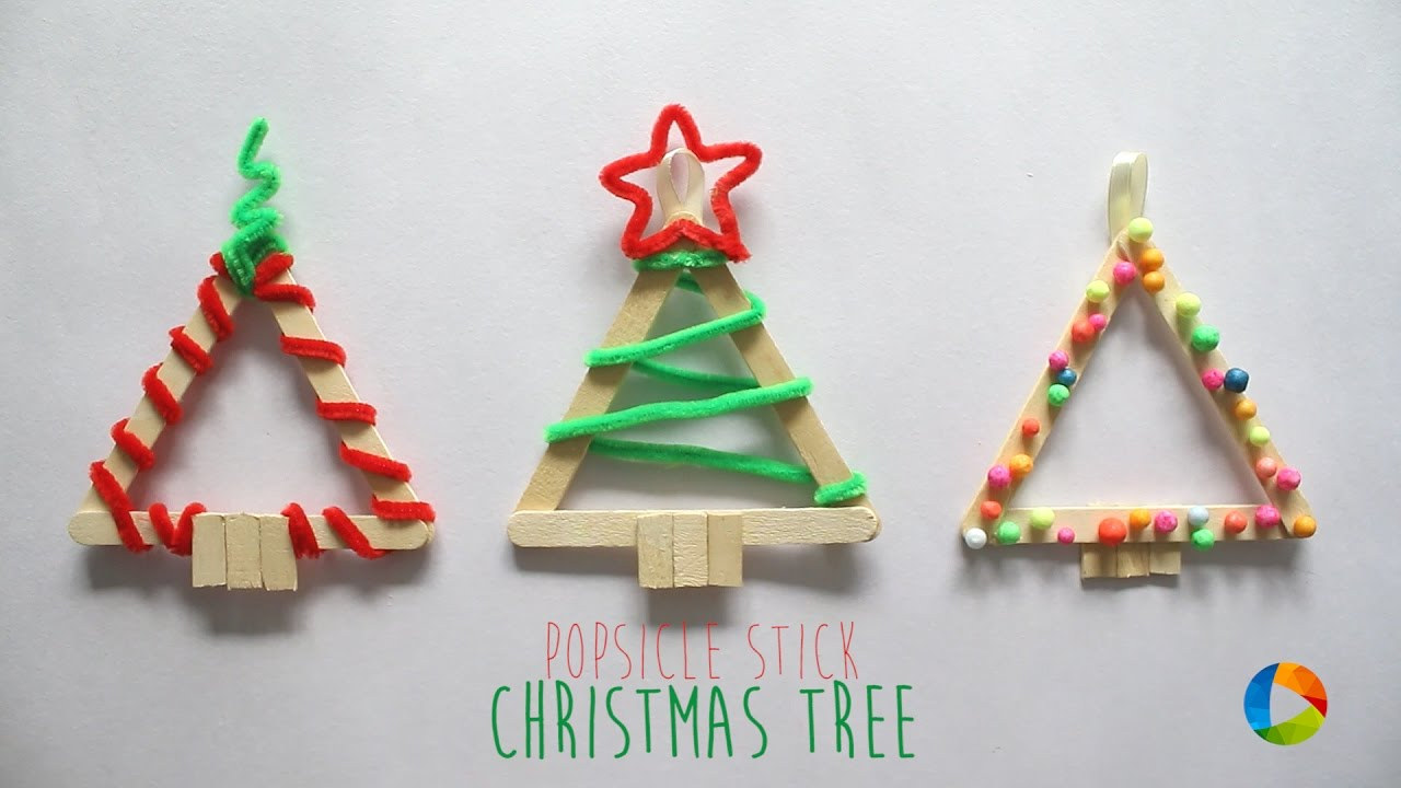 Lollipop Stick Christmas Decorations.Diy Christmas Tree Popsicle Stick