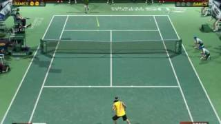 Virtua Tennis 3 PC - Nadal vs Roddick Gameplay