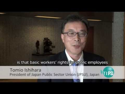 Tomio Ishihara, Japan Public Sector Union, Japan
