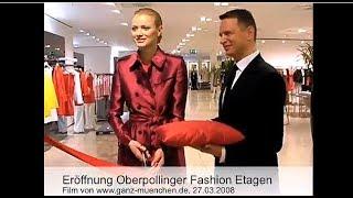 (Archiv 2008) Top Model Franziska Knuppe eröffnete Oberpollinger Fashion Etage