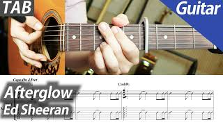 Ed Sheeran - Afterglow   기타 커버…