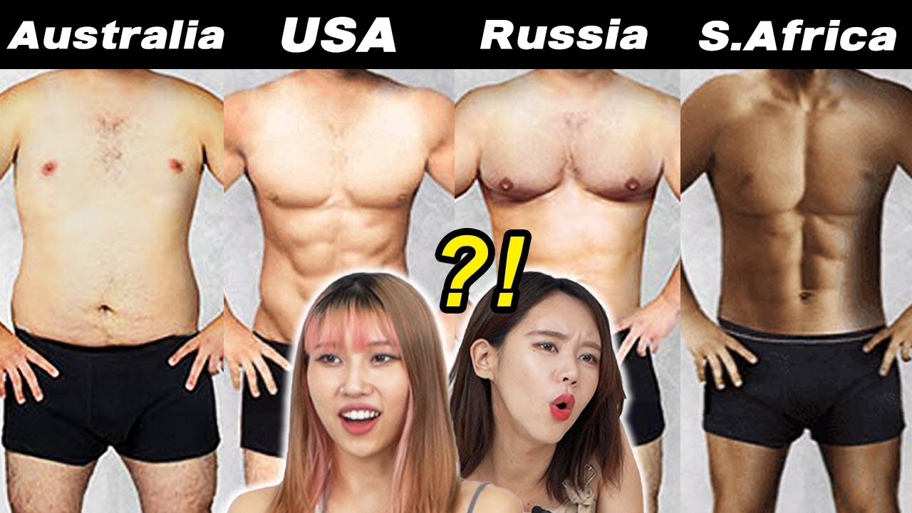 What 'Perfect' Male Body Types Look Like Around The World!