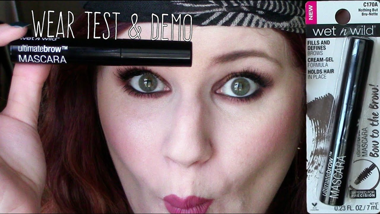 Wet N Wild Ultimate Brow Mascara Lasting Impression Review Youtube