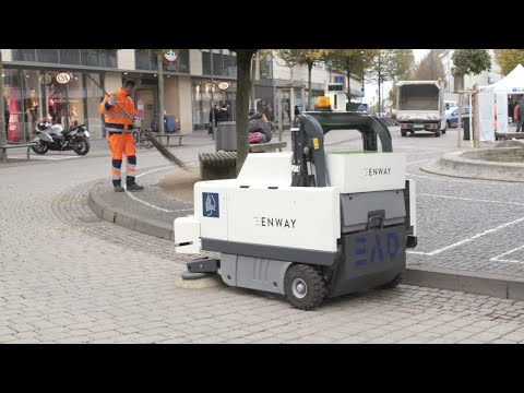 Enway Autonomous Inner City Sweeping.