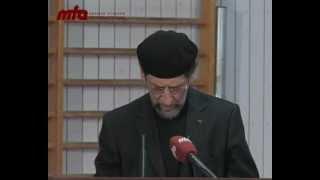 2011-01-07 Besondere Freitagsansprache in Ehren von Hadayatullah Hübsch