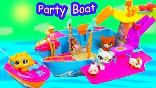 Polly Pocket Tropical Party Yacht Boat Water Pool Play Toy Review Unboxing LPS