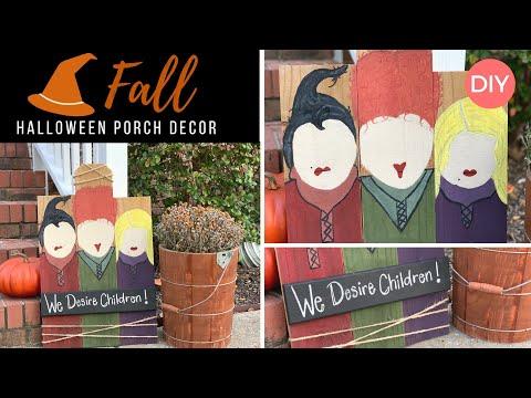 Hocus Pocus Themed Porch Decor | Halloween DIY | Budget Friendly | Ashleigh Lauren