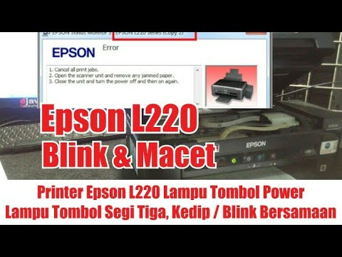 Reset the Epson L120 || The lights blink alternately || The Resetter link is in the description.