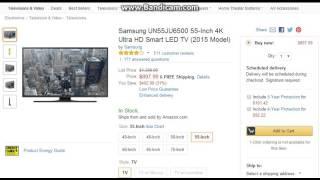 Samsung UN55JU6500 55 Inch 4K Ultra HD Smart LED TV 2015 Model