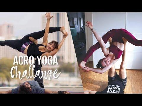 trying acro yoga poses // with ferdi