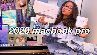 "13"" MACBOOK PRO 2020 UNBOXING + OVERVIEW & CUSTOMIZATION"