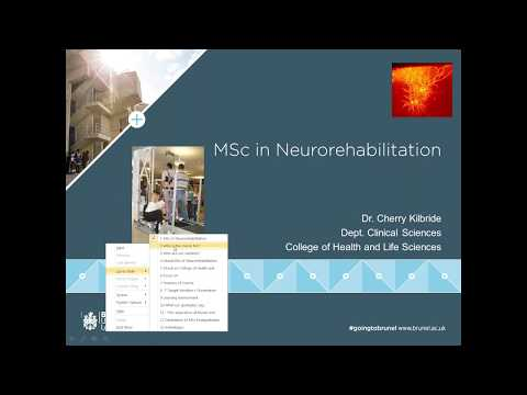 Neurorehabilitation MSc Webinar | Monday 12 June 2017