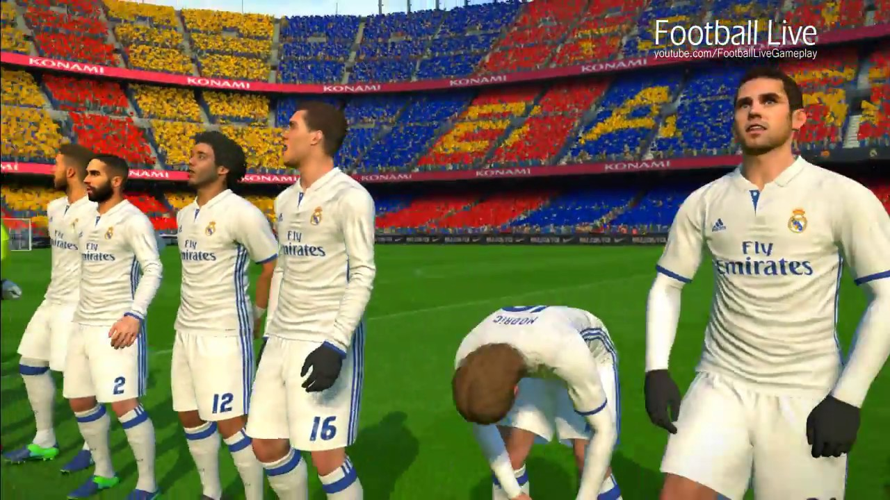 barcelona vs real madrid el clasico la liga 2016 2017 pes 2017 gameplay pc
