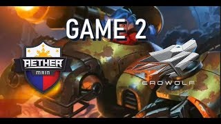 AETHER MAIN VS AEROWOLF - GAME 2 - MSC 2018 - MOBILE LEGENDS Codash...