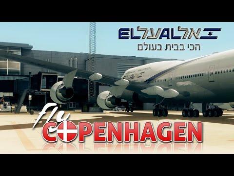 FSX [HD] - El Al Airlines   Boeing 747-400   Departure - Copenhagen, Kastrup