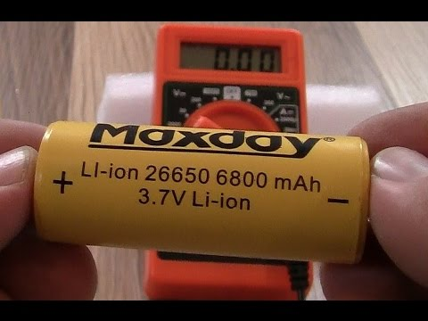Akumulator MAXDAY 26650 6800mAh LI-ion 3,7V TEST